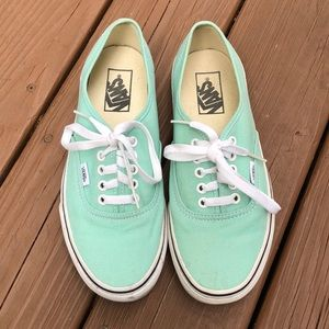 Vans Authentic Mint Green Sneaker Size 8.5 W